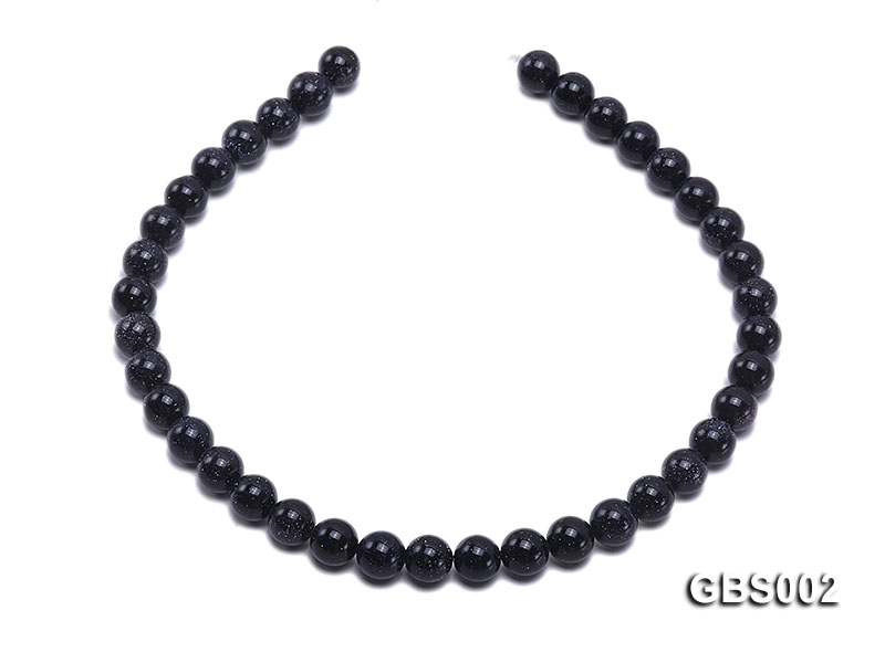 wholesale 10mm faceted round Blue Sandstone strings big Image 4
