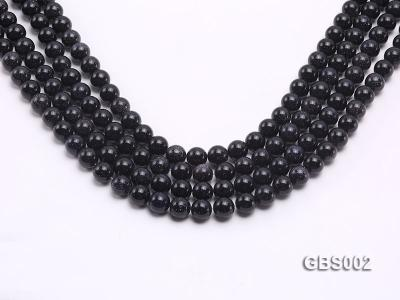 wholesale 10mm faceted round Blue Sandstone strings GBS002 Image 1