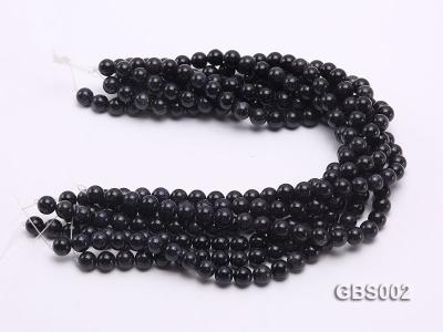wholesale 10mm faceted round Blue Sandstone strings GBS002 Image 3