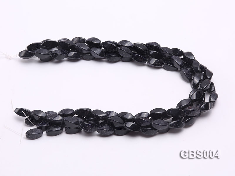 wholesale 8x16mm irregular Blue Sandstone strings big Image 3