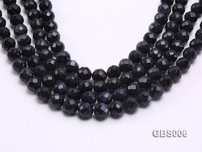 wholesale 12mm faceted round Blue Sandstone strings GBS006 Image 1