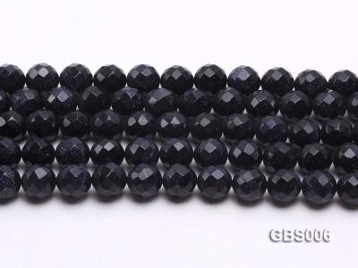 wholesale 12mm faceted round Blue Sandstone strings GBS006 Image 2