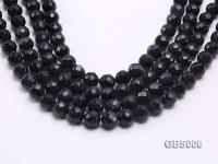 wholesale 12mm faceted round Blue Sandstone strings GBS006