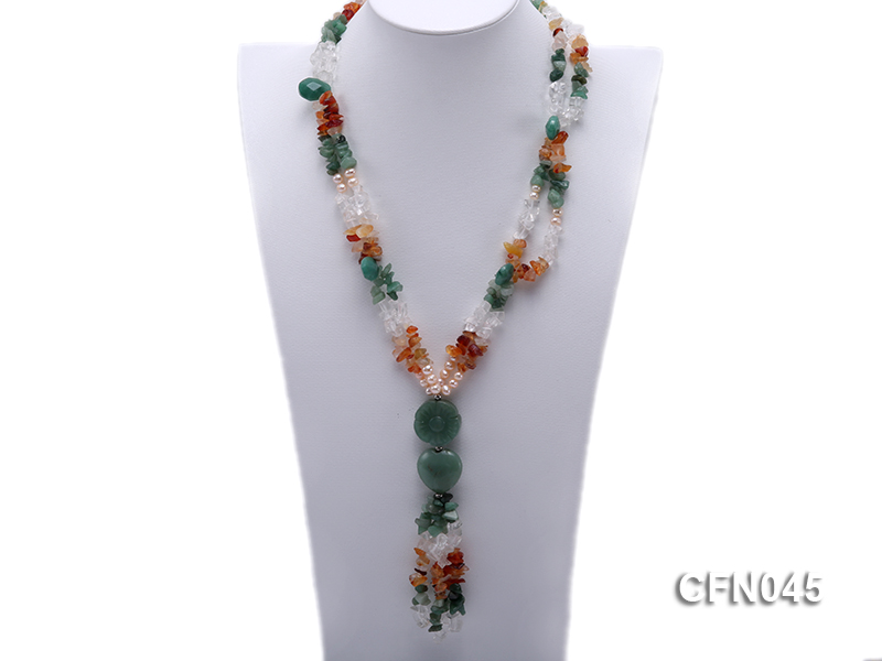 5-12mm Crystal and Other Gemstone Necklace big Image 1