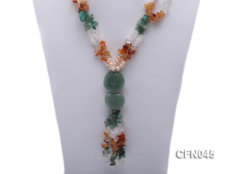 5-12mm Crystal and Other Gemstone Necklace big Image 2