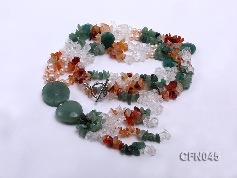 5-12mm Crystal and Other Gemstone Necklace big Image 3