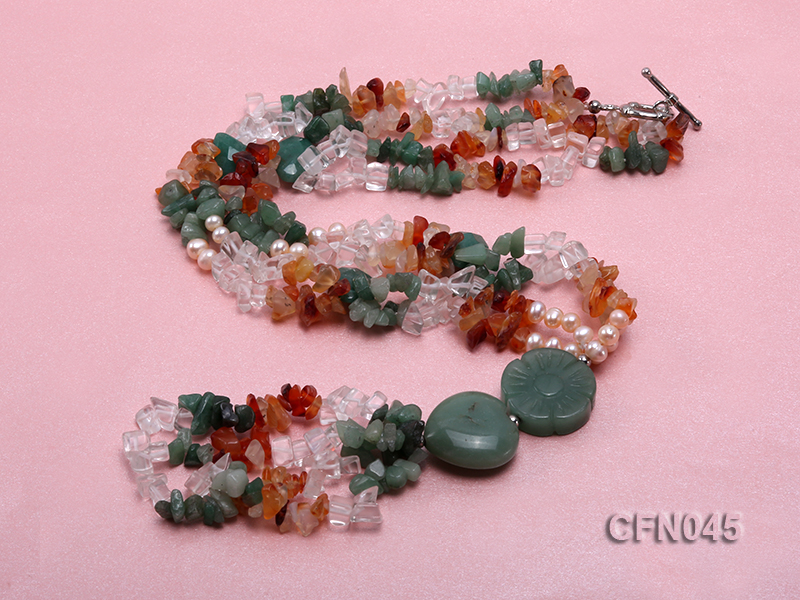 5-12mm Crystal and Other Gemstone Necklace big Image 4