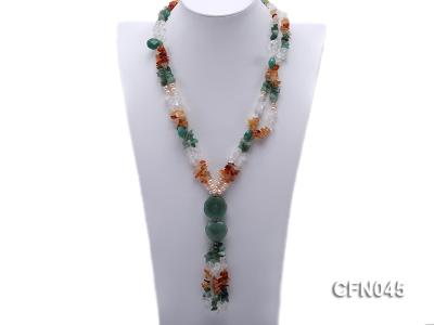 5-12mm Crystal and Other Gemstone Necklace CFN045 Image 1