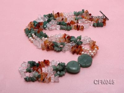 5-12mm Crystal and Other Gemstone Necklace CFN045 Image 4