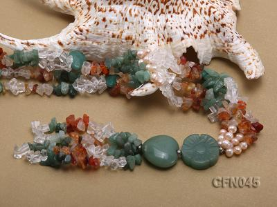 5-12mm Crystal and Other Gemstone Necklace CFN045 Image 5