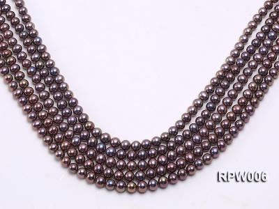 Wholesale 7-8mm Black Round Freshwater Pearl String RPW006 Image 1