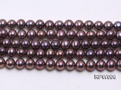 Wholesale 7-8mm Black Round Freshwater Pearl String RPW006 Image 2
