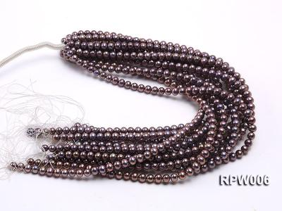 Wholesale 7-8mm Black Round Freshwater Pearl String RPW006 Image 3