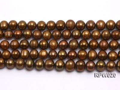 Wholesale 10mm Dark Coffee Round Freshwater Pearl String RPW020 Image 2