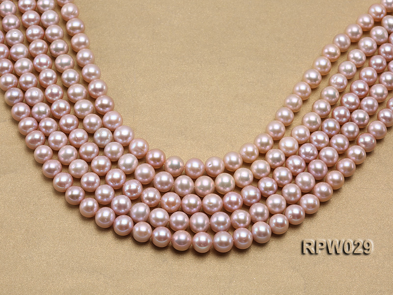 Wholesale AAA-grade 10-11mm Pink Round Freshwater Pearl String big Image 1