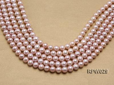 Wholesale AAA-grade 10-11mm Pink Round Freshwater Pearl String RPW029 Image 1