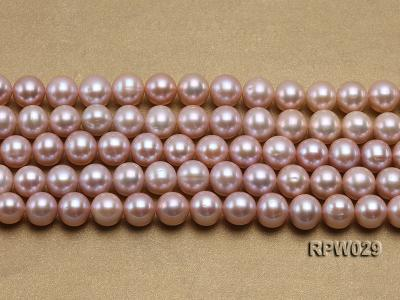 Wholesale AAA-grade 10-11mm Pink Round Freshwater Pearl String RPW029 Image 2