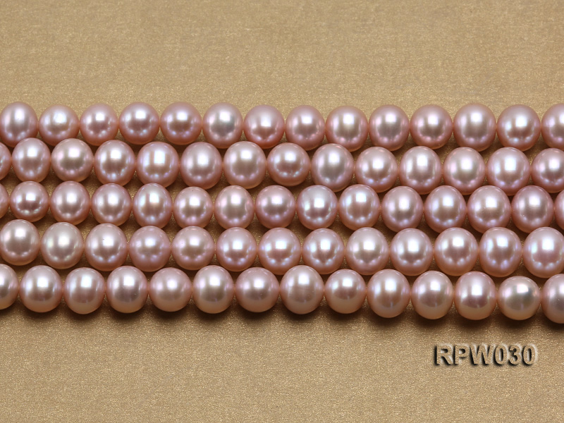 Wholesale 8-9mm Natural Lavender Round Freshwater Pearl String big Image 2
