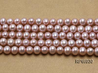 Wholesale 8-9mm Natural Lavender Round Freshwater Pearl String RPW030 Image 2