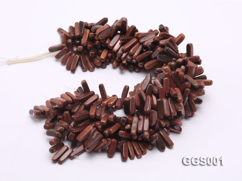 wholesale 5x20mm stick-shaped goldenstone strings big Image 3