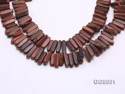 wholesale 5x20mm stick-shaped goldenstone strings GGS001 Image 1