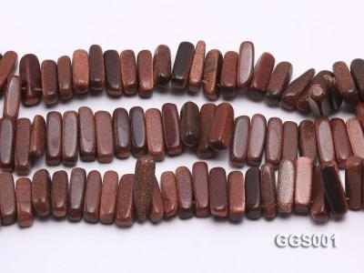 wholesale 5x20mm stick-shaped goldenstone strings GGS001 Image 2