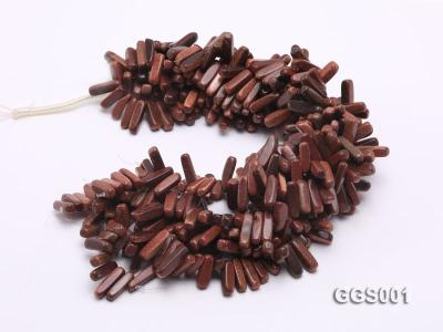 wholesale 5x20mm stick-shaped goldenstone strings GGS001 Image 3