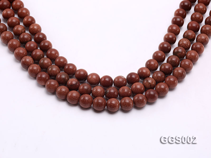 wholesale 10mm round faceted goldstone strings big Image 1
