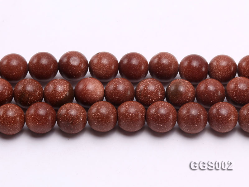 wholesale 10mm round faceted goldstone strings big Image 2