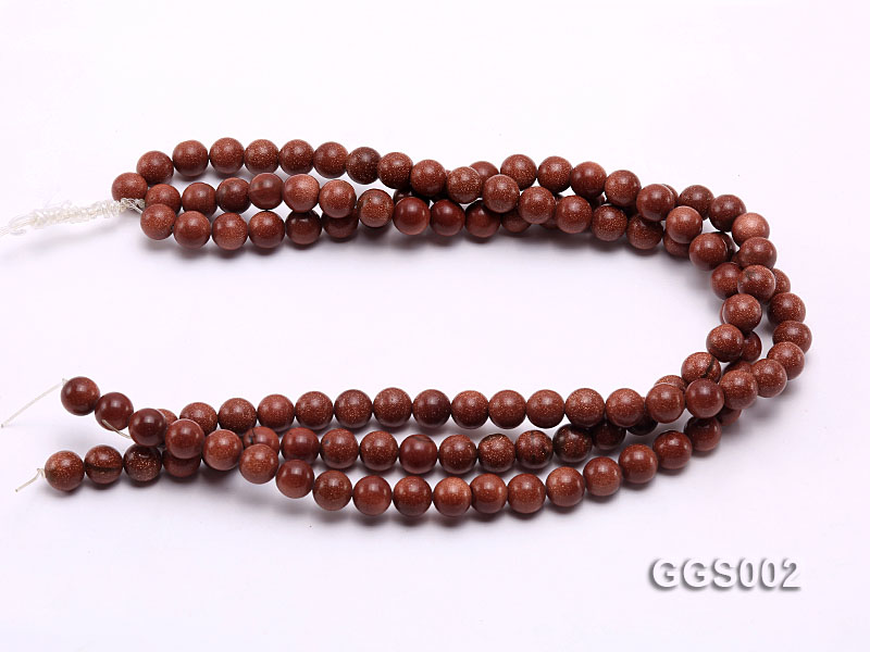 wholesale 10mm round faceted goldstone strings big Image 3