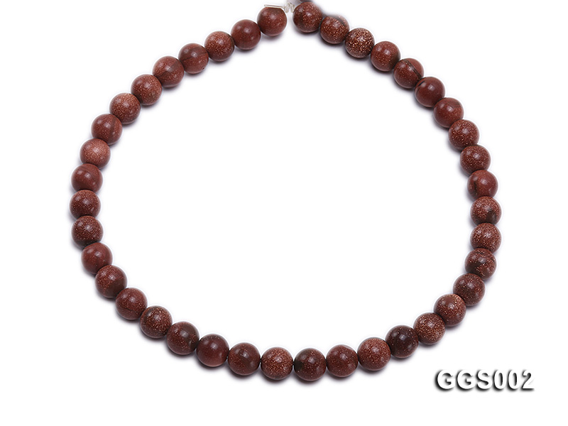 wholesale 10mm round faceted goldstone strings big Image 4