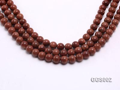 wholesale 10mm round faceted goldstone strings GGS002 Image 1