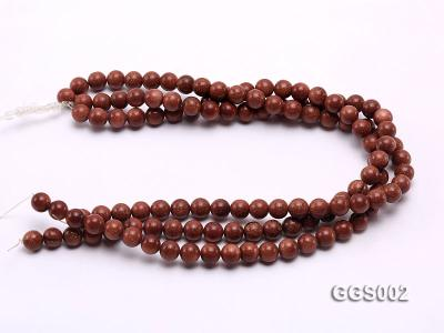 wholesale 10mm round faceted goldstone strings GGS002 Image 3