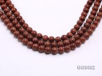 wholesale 10mm round faceted goldstone strings GGS002