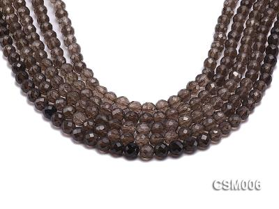 Wholesale 8mm Round Faceted Smoky Quartz Beads String CSM006 Image 1