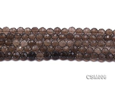 Wholesale 8mm Round Faceted Smoky Quartz Beads String CSM006 Image 2
