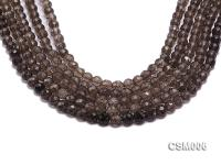 Wholesale 8mm Round Faceted Smoky Quartz Beads String CSM006