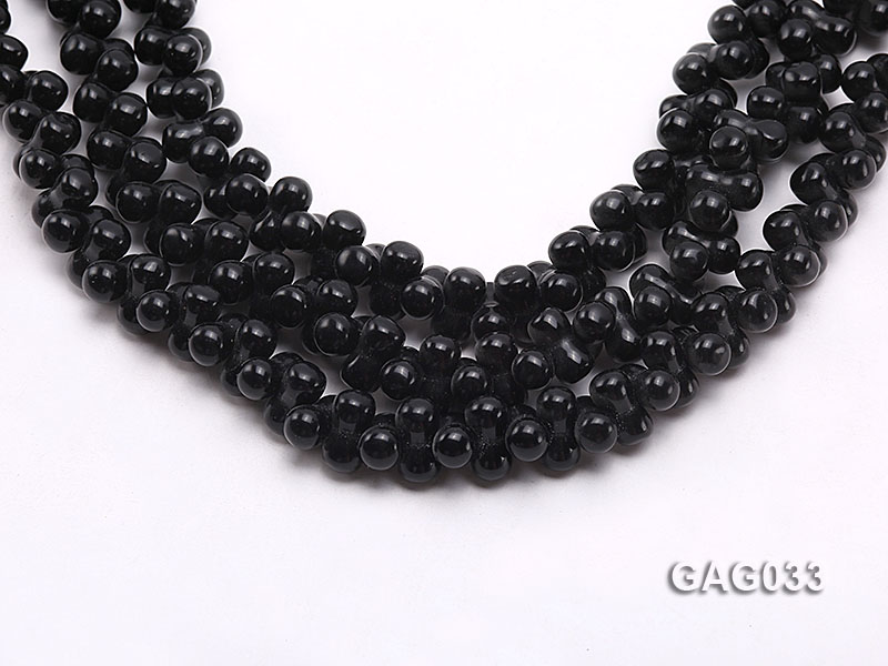 wholesale 5x11mm irregular black agate strings big Image 1