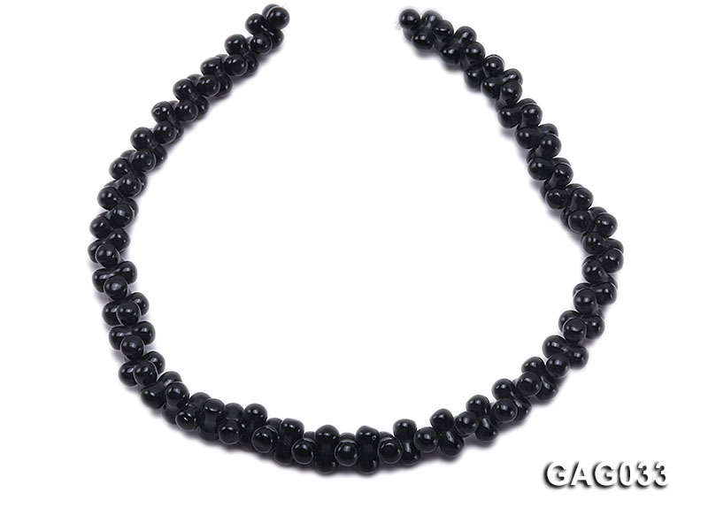 wholesale 5x11mm irregular black agate strings big Image 4