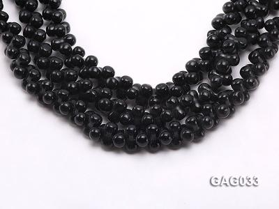 wholesale 5x11mm irregular black agate strings GAG033 Image 1