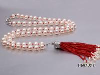 10-11mm Round White Freshwater Pearl Necklace FNO027