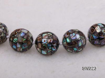 15.5mm Round Colorful Abalone Shell Beads Necklace SN023 Image 4