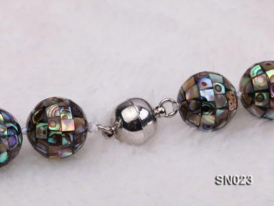 15.5mm Round Colorful Abalone Shell Beads Necklace SN023 Image 8