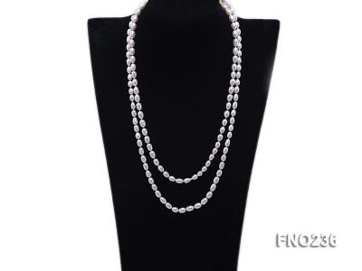 7-8mm white oval freshwater pearl necklace FNO236 Image 1