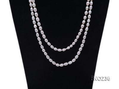 7-8mm white oval freshwater pearl necklace FNO236 Image 2