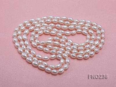 7-8mm white oval freshwater pearl necklace FNO236 Image 3