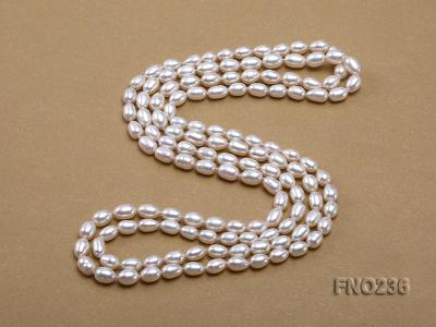 7-8mm white oval freshwater pearl necklace FNO236 Image 4
