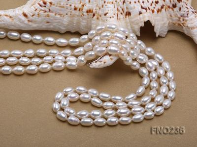 7-8mm white oval freshwater pearl necklace FNO236 Image 5