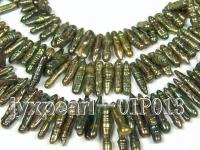 Wholesale & Retail A-grade 5x22-6x35mm Dark Green Stick-shaped Pearl String OIP013