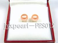 7.8mm Pink Flat Cultured Freshwater Pearl Earrings FES012